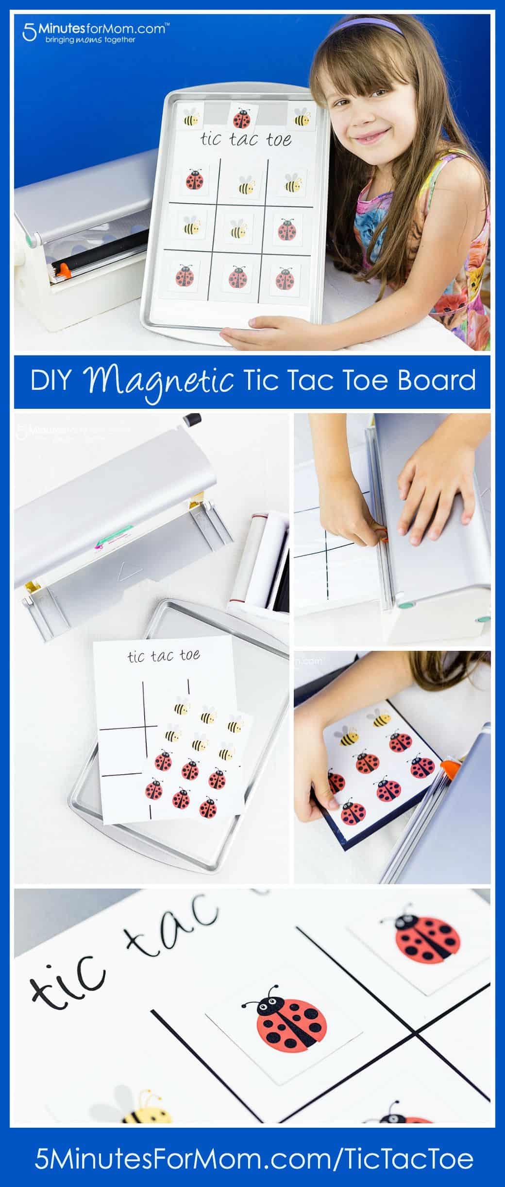 DIY Magnetic Tic Tac Toe Board