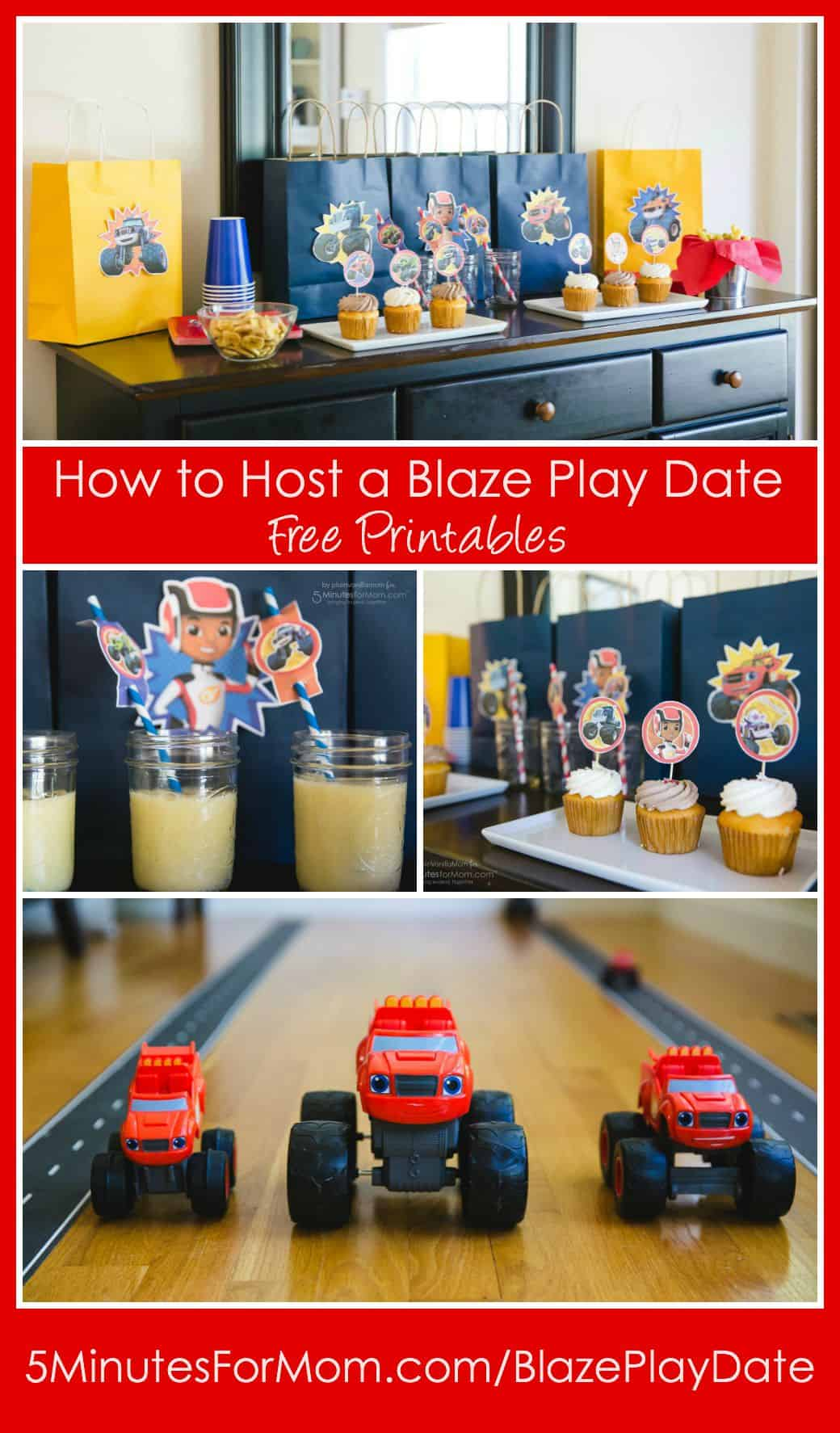 How to Host a Blaze Play Date with Free Printables