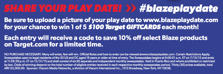 Share your Play Date - Giveaway Info