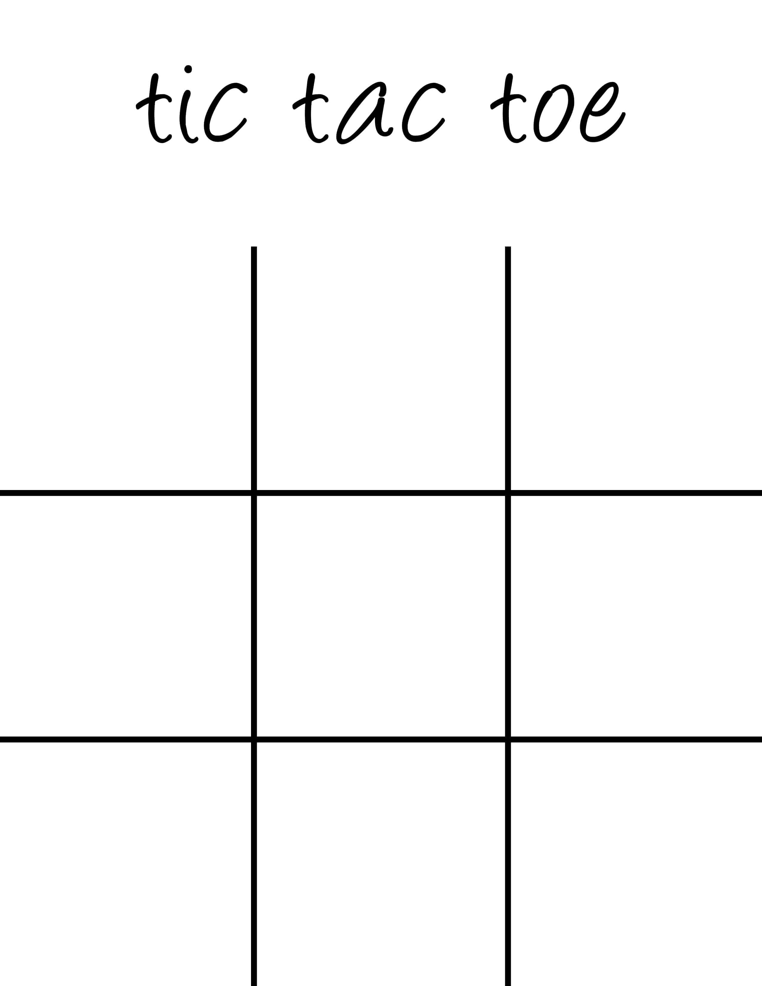 image regarding Tic Tac Toe Printable identify Tic Tac Toe Board Printable - 5 Minutes for Mother