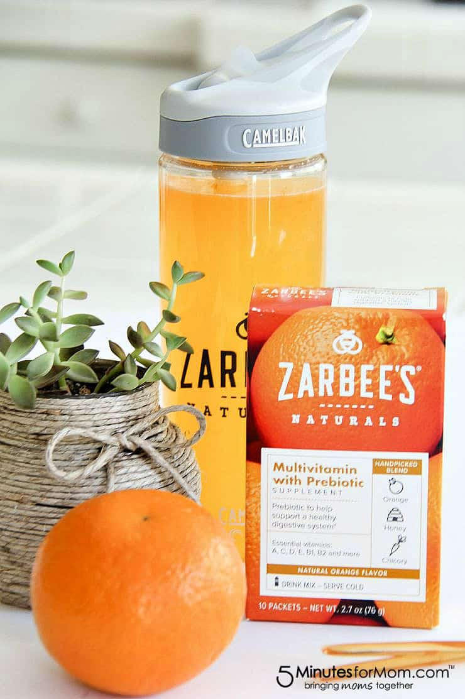 Zarbee's Multivitamin with Prebiotic Drink Mix in Orange flavor
