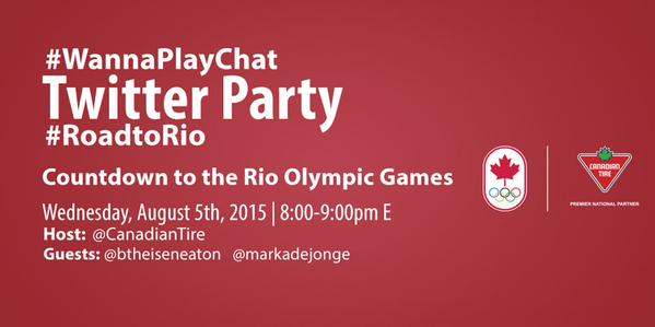 Join the Countdown Kick Off to the 2016 Rio Summer Olympics #WannaPlayChat #RoadtoRio