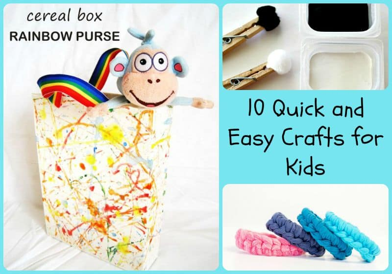 10 quick and easy crafts for kids 5 minutes for mom