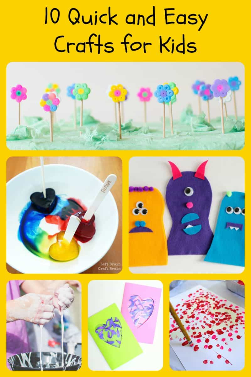 fun kid craft ideas 10 and easy crafts for 5 minutes for 4533
