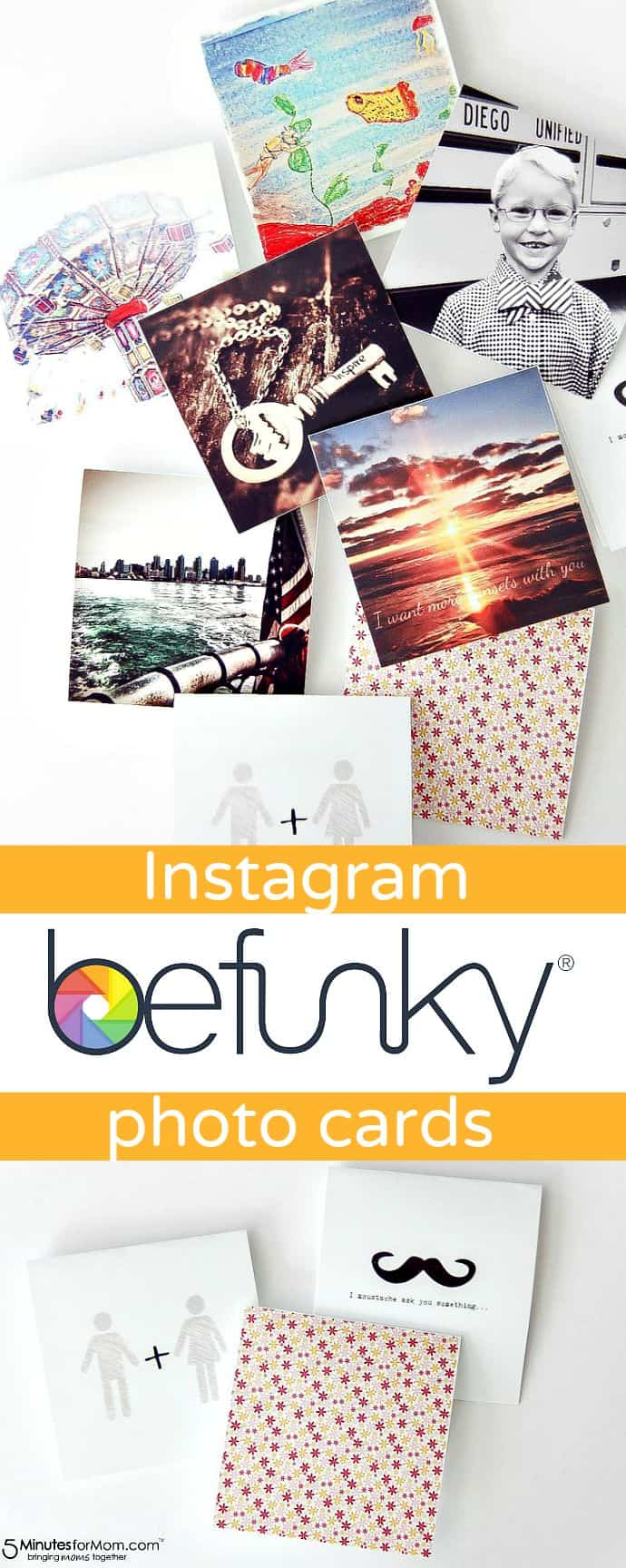 Create custom photo cards from Instagram photos using BeFunky photo editing