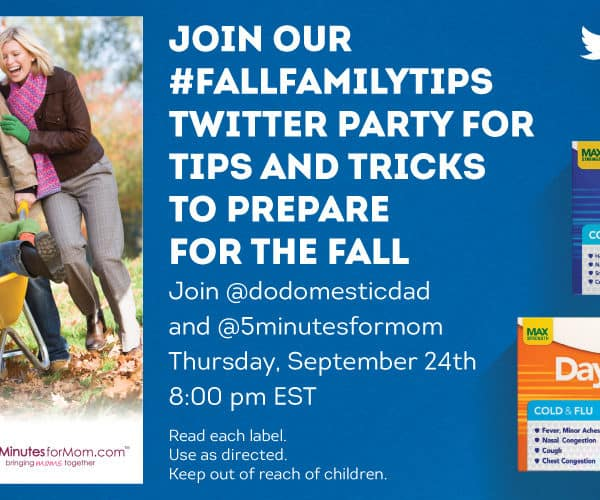 Join #FallFamilyTips Twitter Party – Sept 24, 8pm ET – Prizes US & Canada