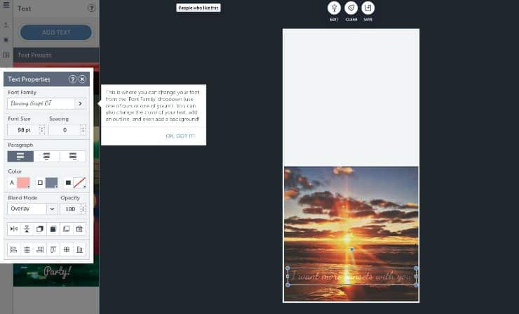 How to add text overlays to note cards using BeFunky