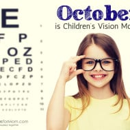 October is Children's Vision Month! #Giveaway