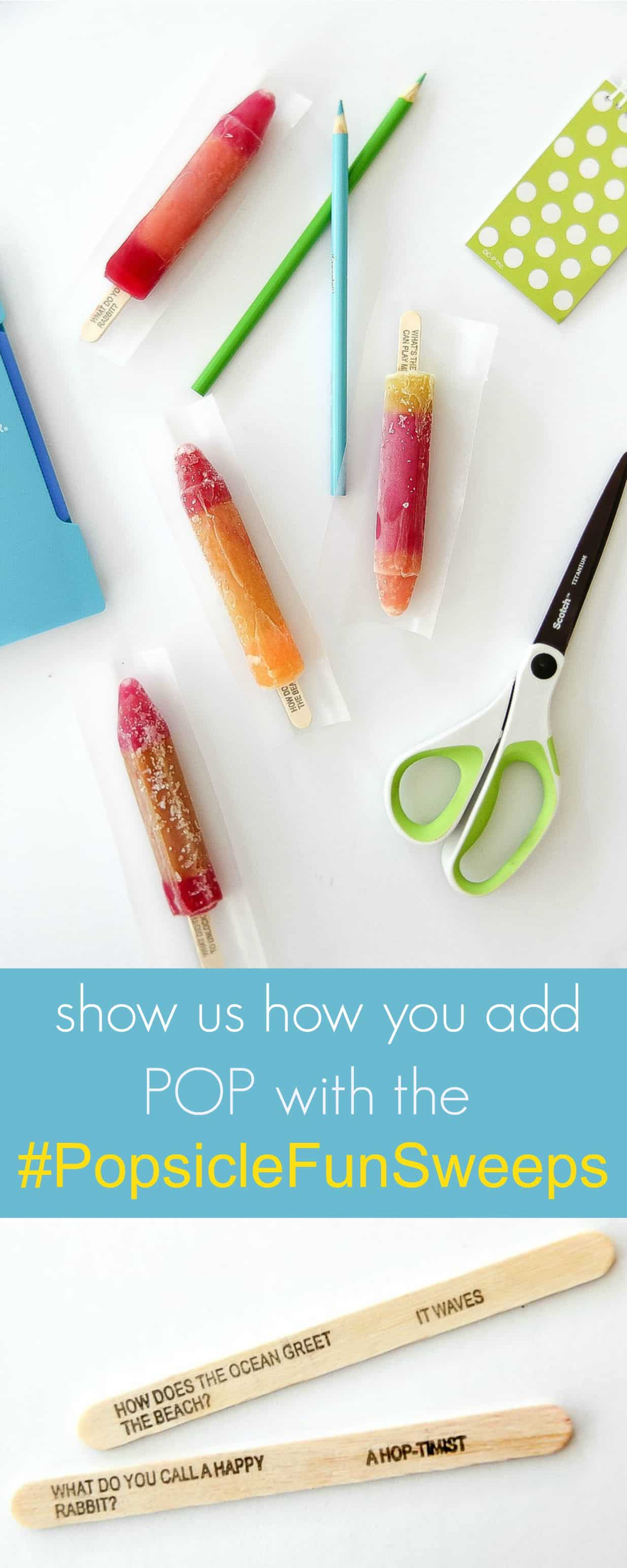 Show us how you add POP to your summer and enter the #PopsicleFunSweeps