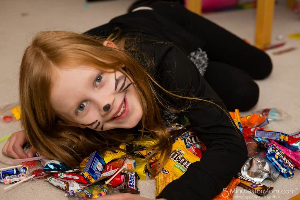 Halloween Trick or Treating Candy Loot