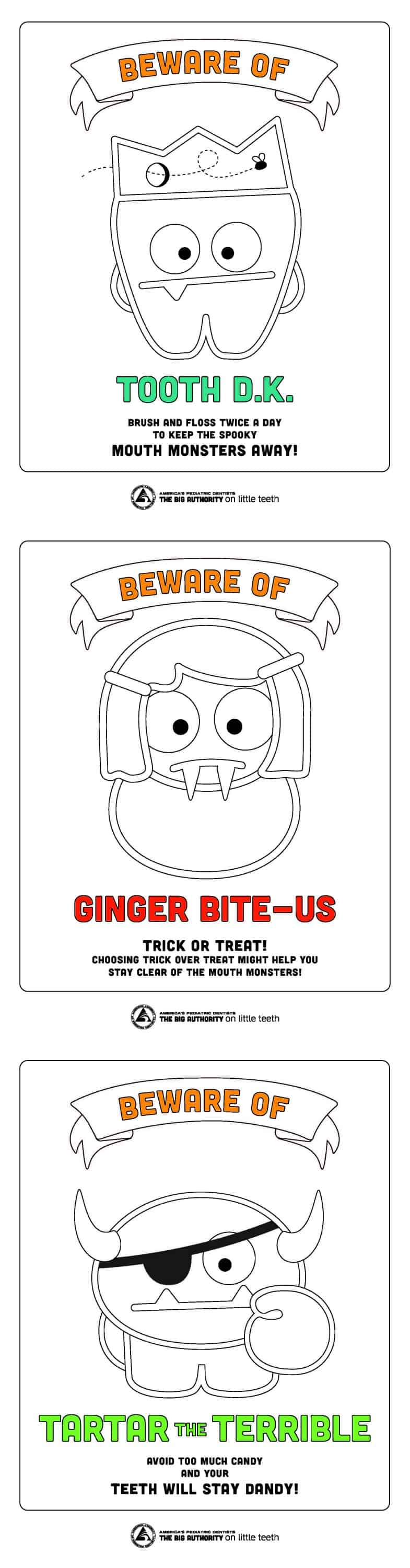 Mouth Monsters Coloring Pages - Free Printable