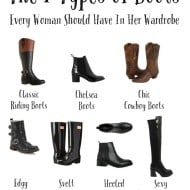 The 7 Types of Boots Every Woman Should Have In Her Wardrobe