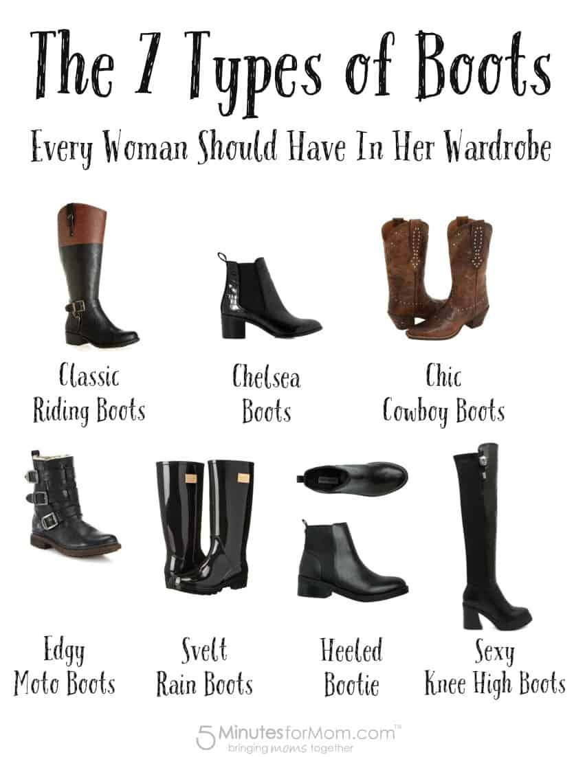 The 7 Types of Boots Every Woman Should Have In Her Wardrobe - 5 ...