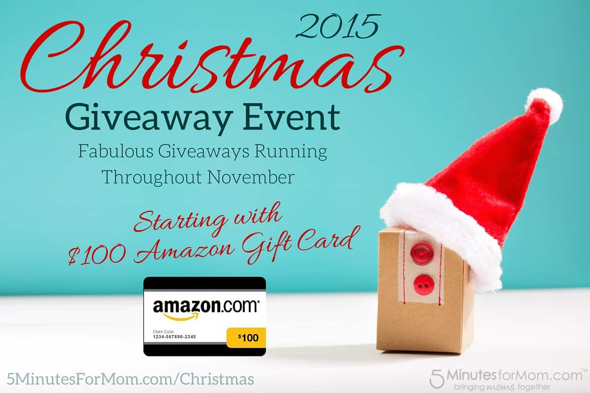 christmas giveaway event 2015 starts with 100 amazon gift card 5 minutes for mom - Amazon Christmas Gift