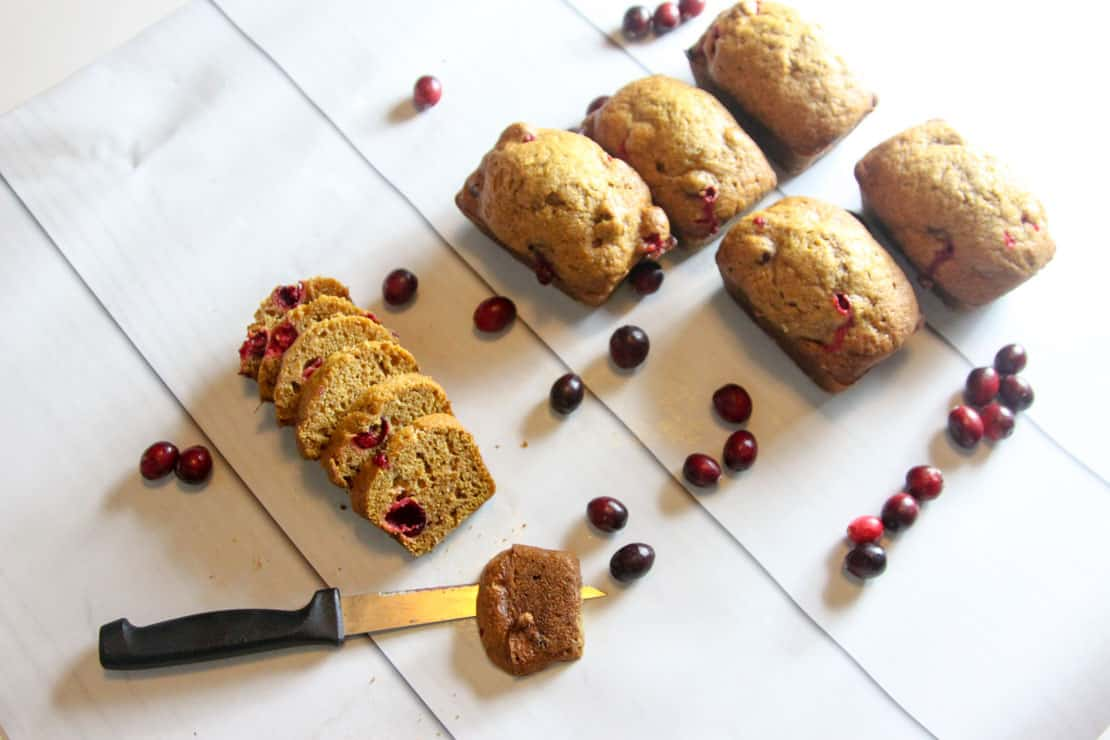 Cranberry Pumpkin Bread Recipe, perfect for a dinner party, Thanksgiving, or Christmas morning