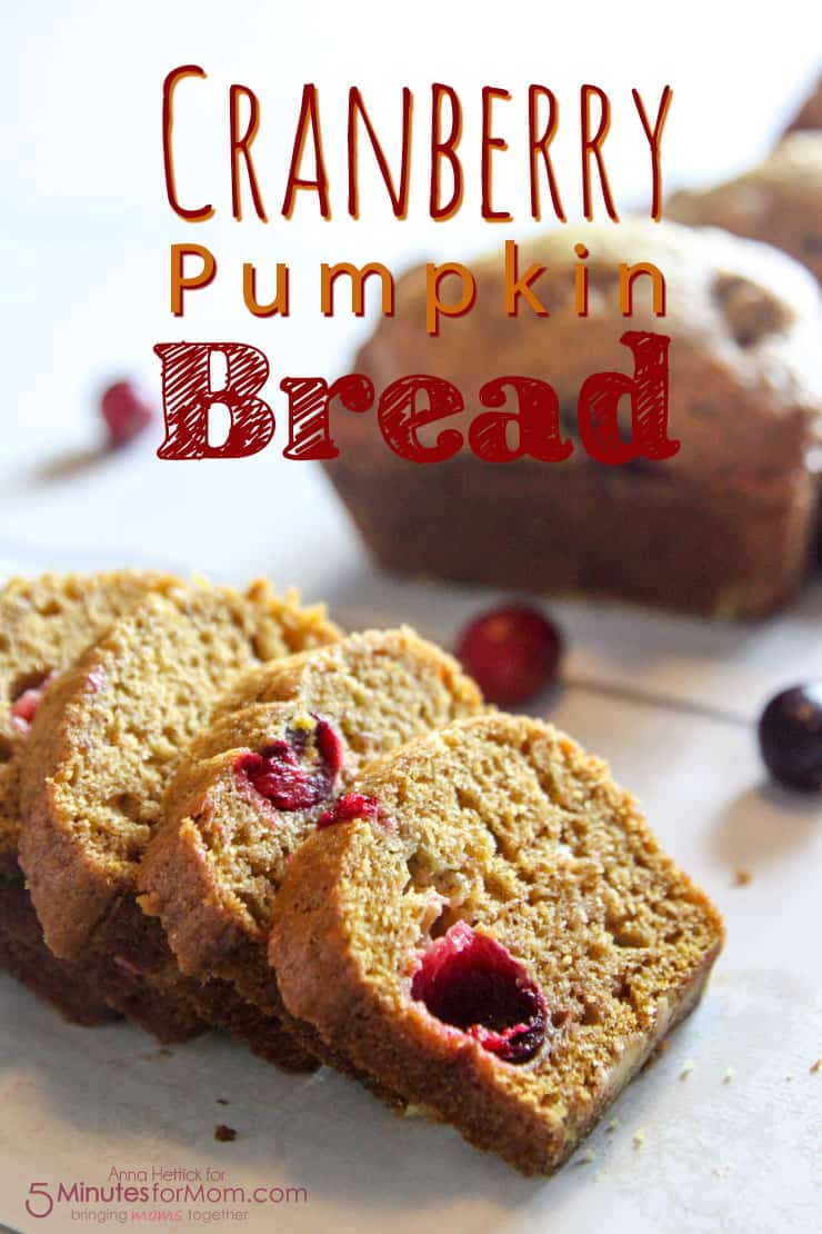 Cranberry Pumpkin Bread Recipe, perfect for a dinner party, Thanksgiving, or Christmas morning!