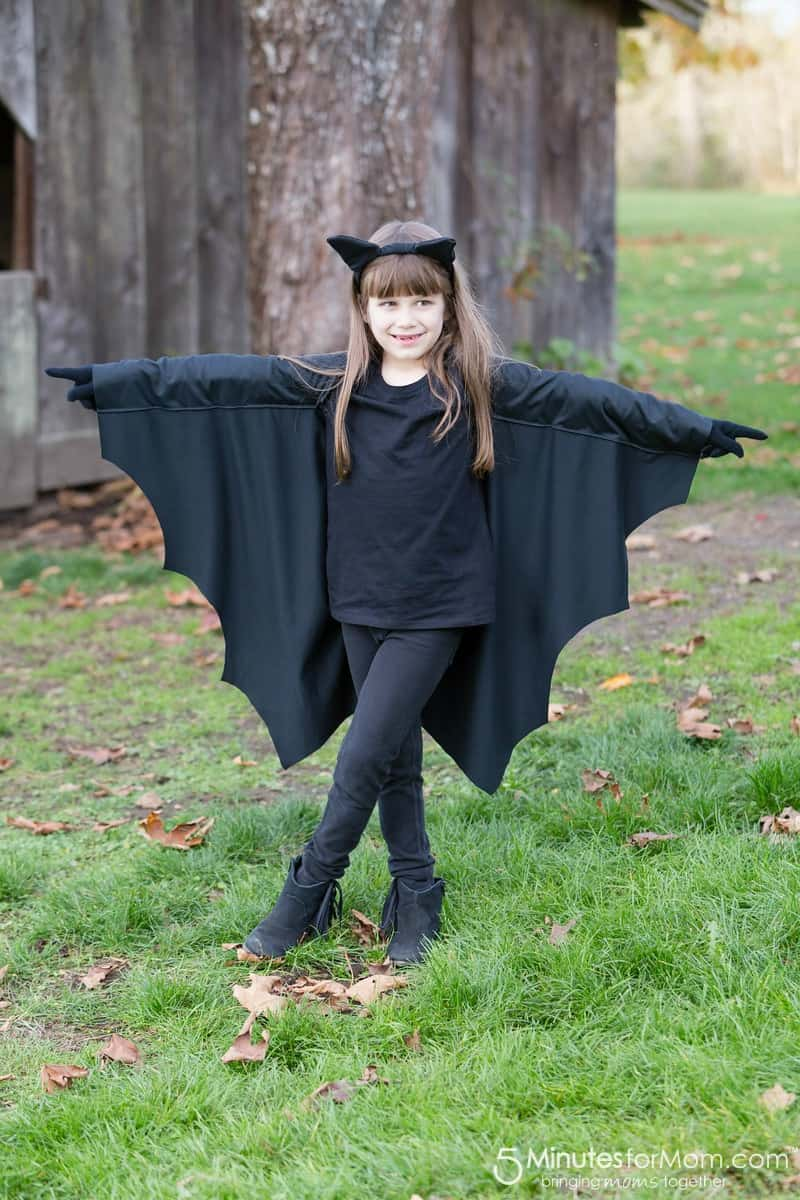 DIY Black Bat Costume