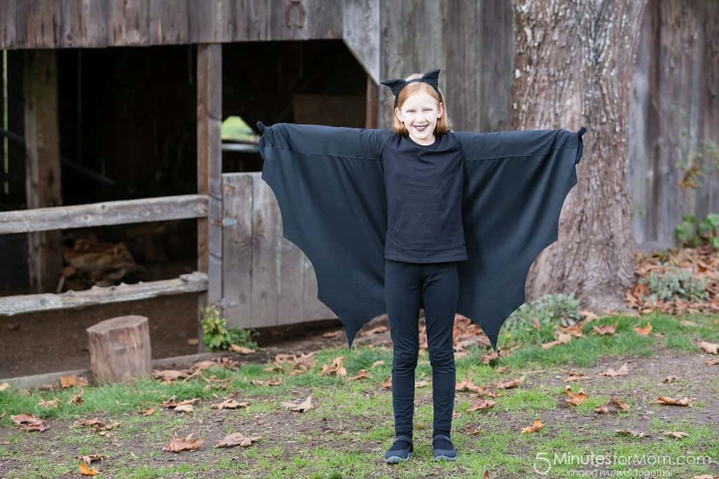 Easy DIY Bat Costume