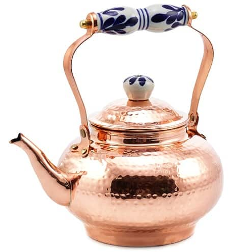 Hammered Solid Copper teapot