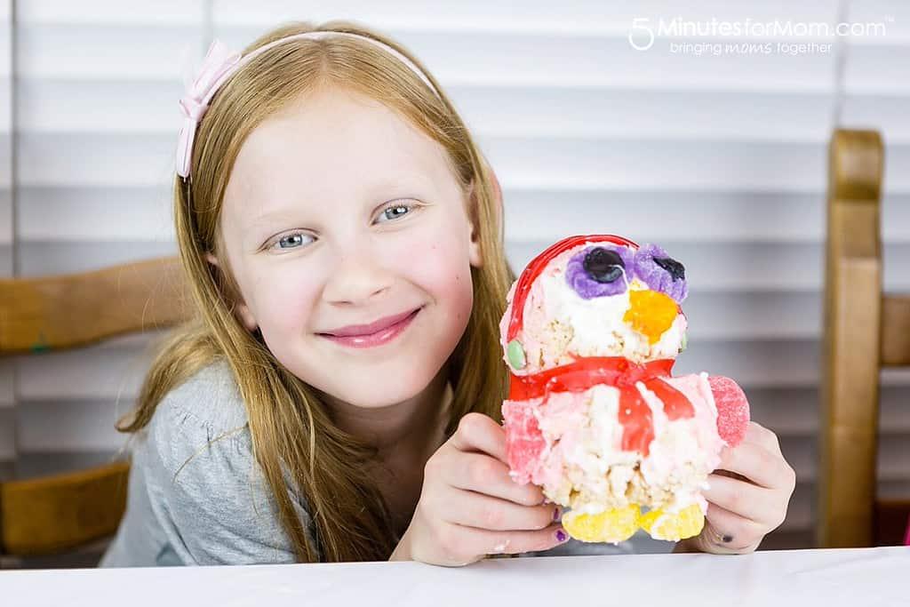 Julia and Her Rice Krispies Penguin