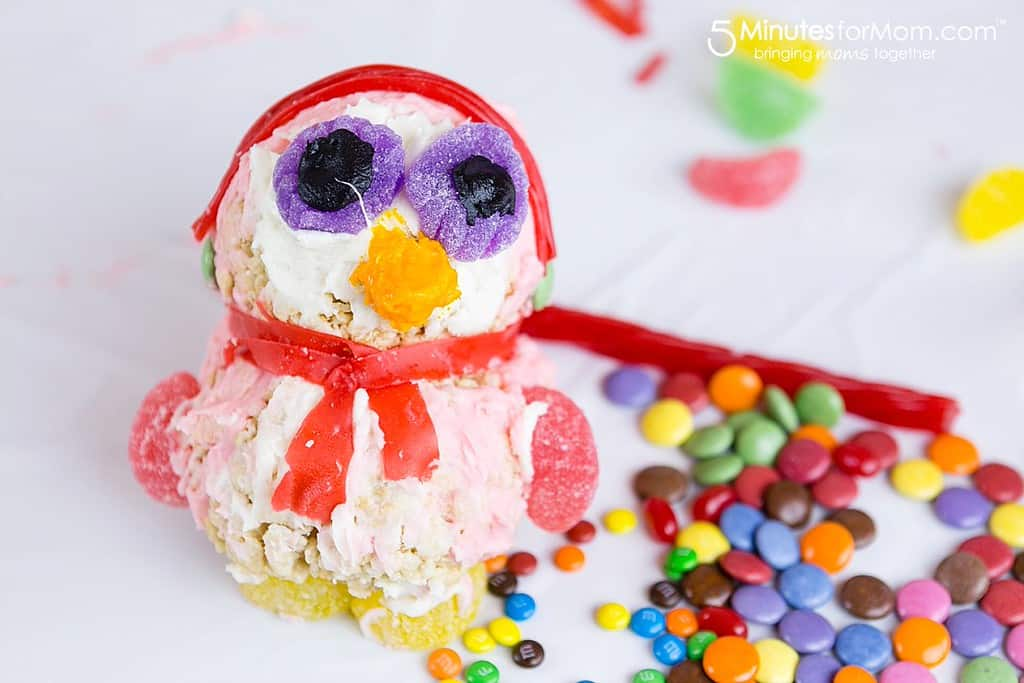 Kid Made Toy Shaped Penguin Rice Krispies Treat
