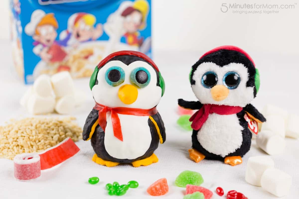 Penguin Rice Krispies Toy Shaped Treat