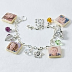 Personalized Photo Tile Charm Bracelet