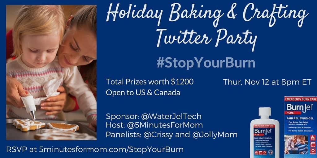 StopYourBurn Holiday Baking Twitter Party