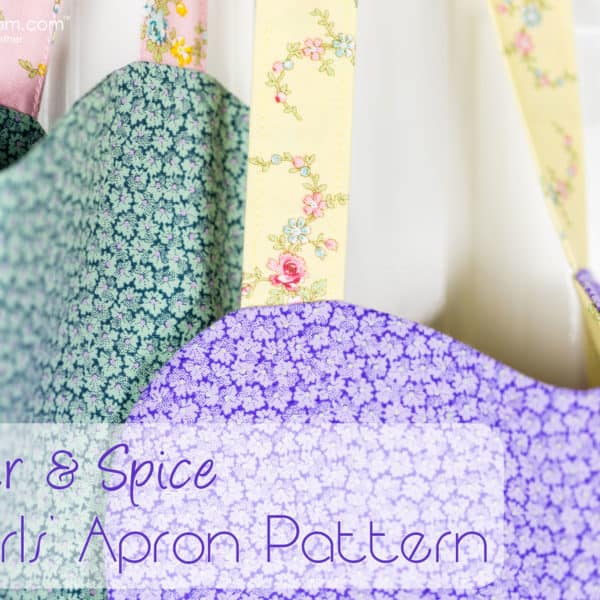 Free Girls Apron Pattern and Sewing Tutorial