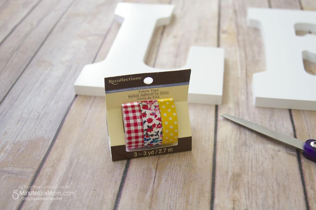 DIY Washi Tape Wooden Letters - How To Decorate Wooden Letters