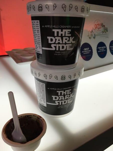 Ample Hills Creamery Frozen Custard - The Dark Side - #StarWarsEvent