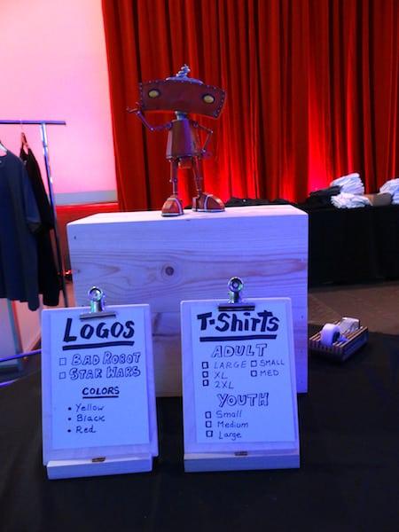 Bad Robot T-shirt Station - #StarWarsEvent