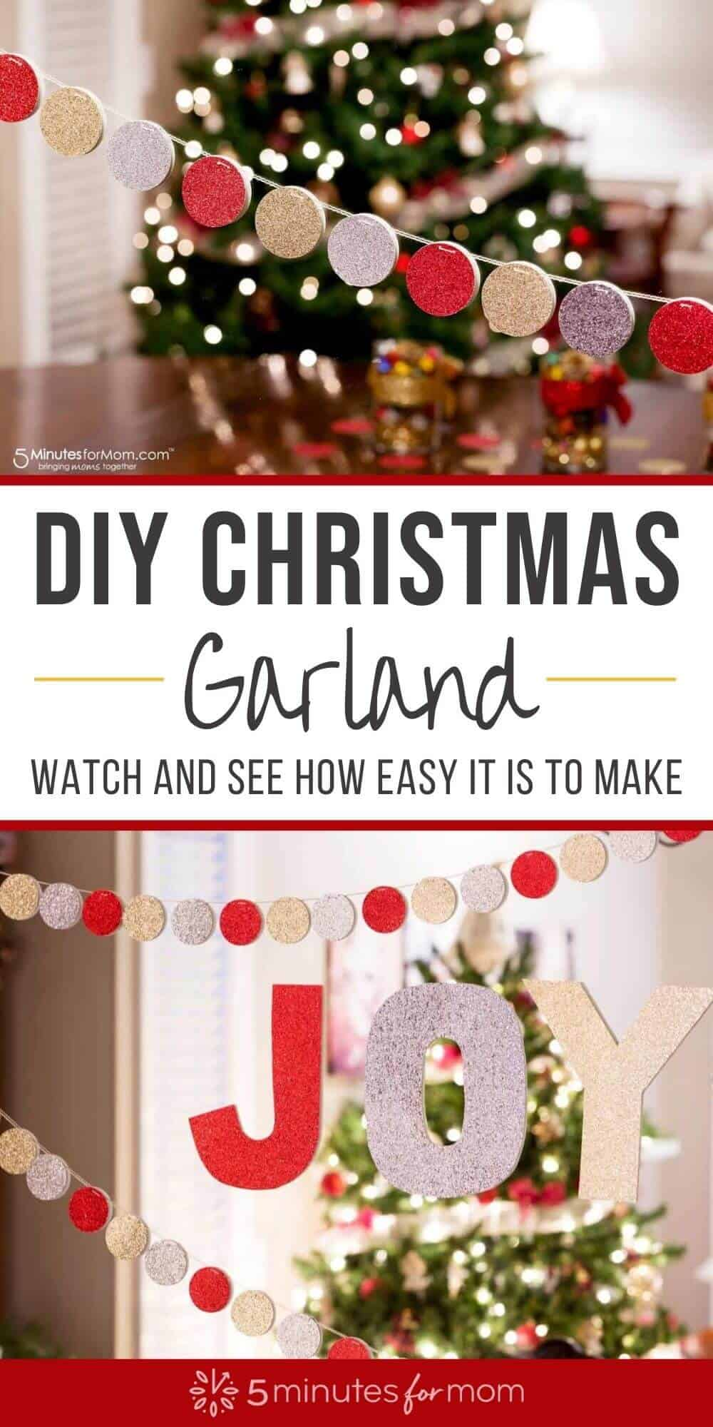 DIY Christmas Garland - With Tutorial Video
