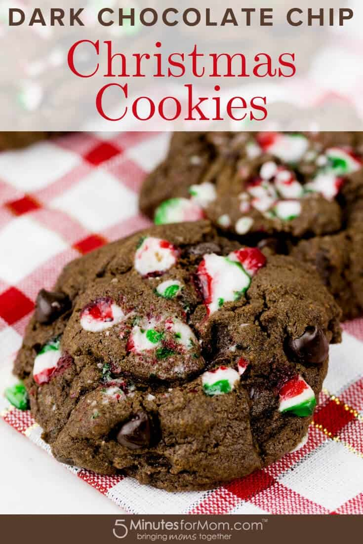 Dark Chocolate Chip Christmas Cookies Recipe