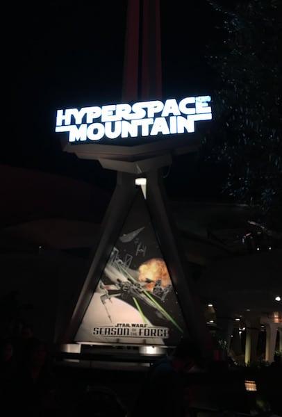 Disneyland - Hyperspace Mountain Sign - #StarWarsEvent
