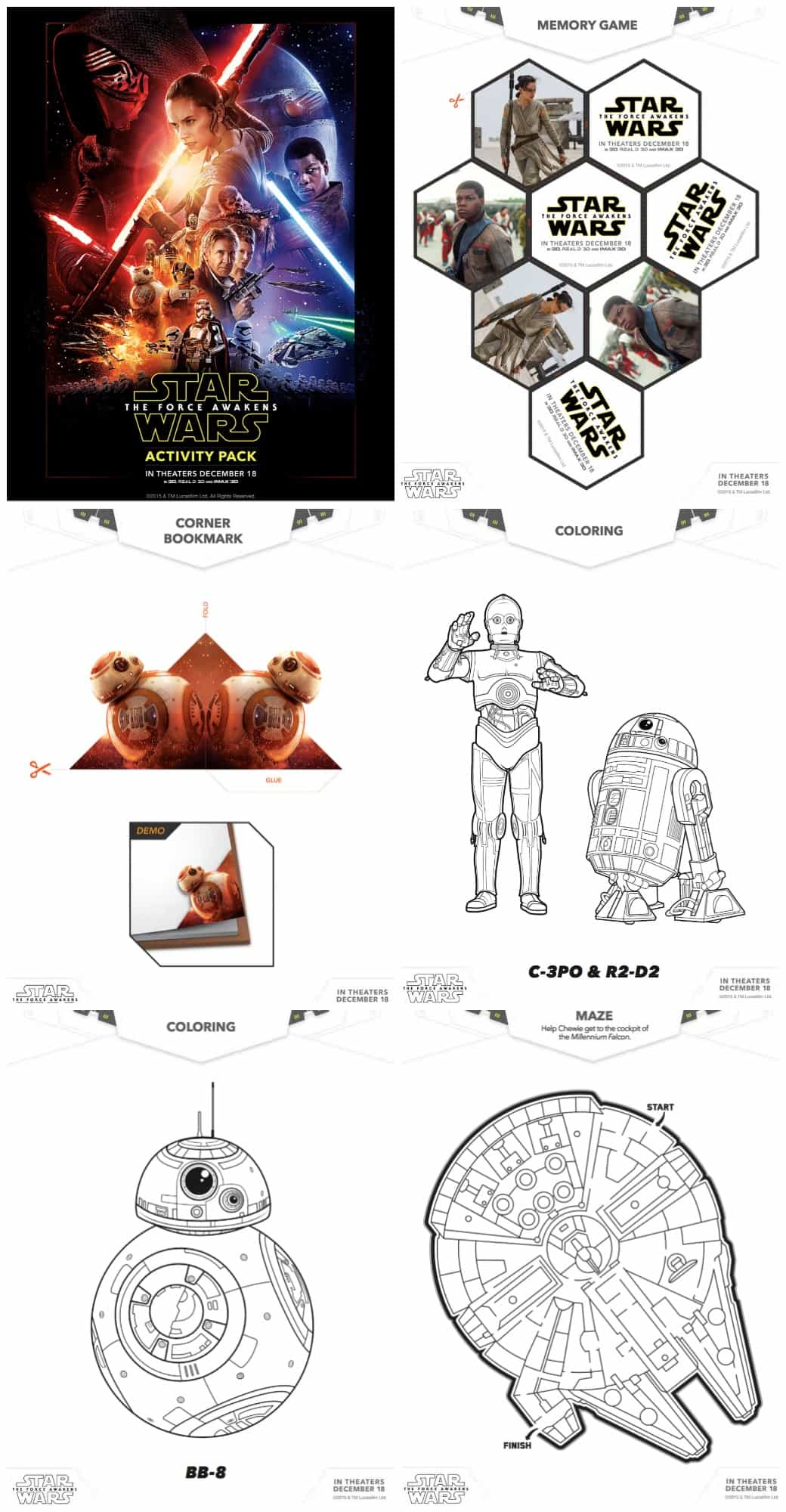Free Star Wars Activity Pack with Star Wars Coloring Sheets