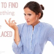 How to Find Something You Misplaced
