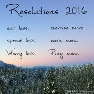 Happy New Years – Do You Share These Resolutions For 2016? #HappyNewYear