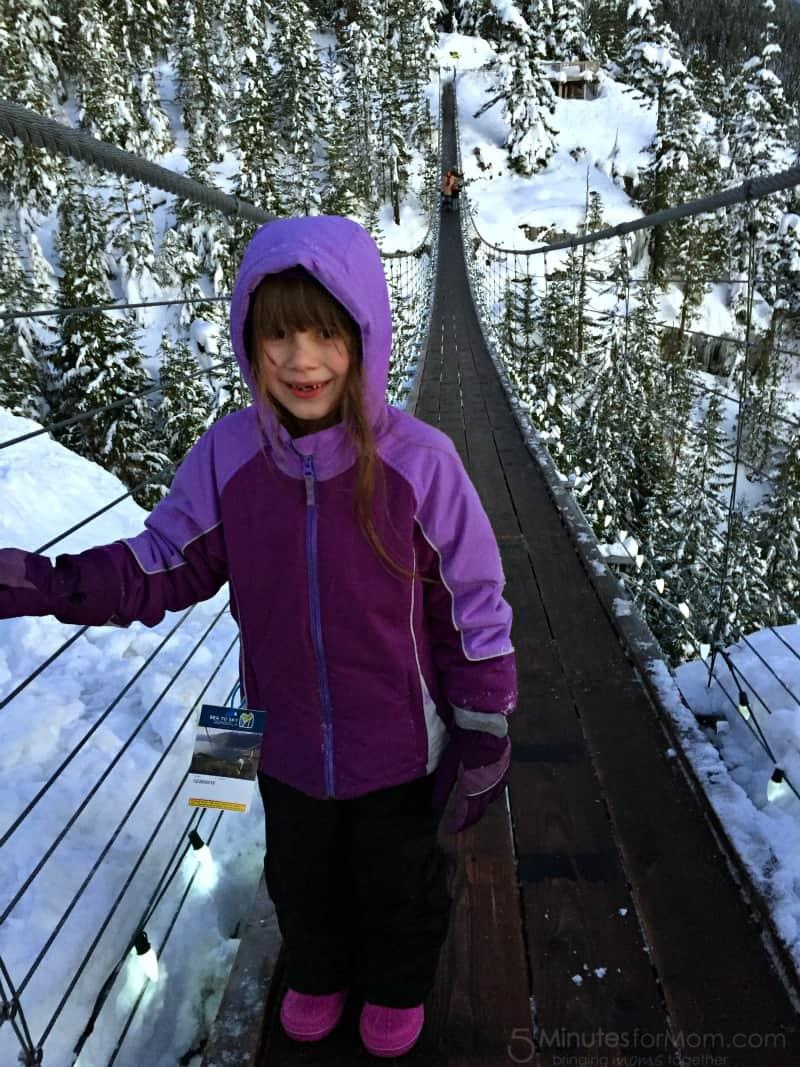 Sophia on Suspension Bridge