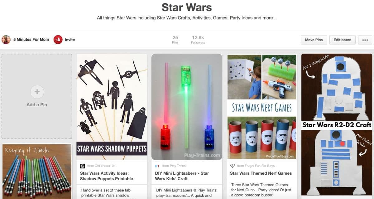 Star Wars Pinterest Board 5 Minutes For Mom