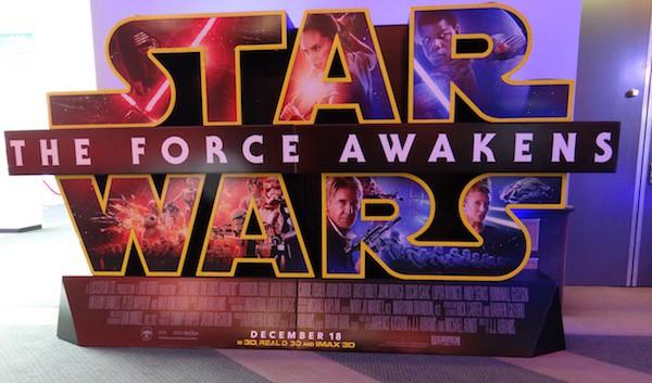 Star Wars The Force Awakens Movie Theatre Standee - #StarWarsEvent