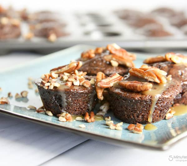 Turtle Brownie Bites Recipe