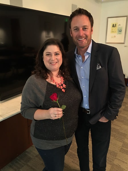Chris Harrison from The Bachelor with Dawn Cullo