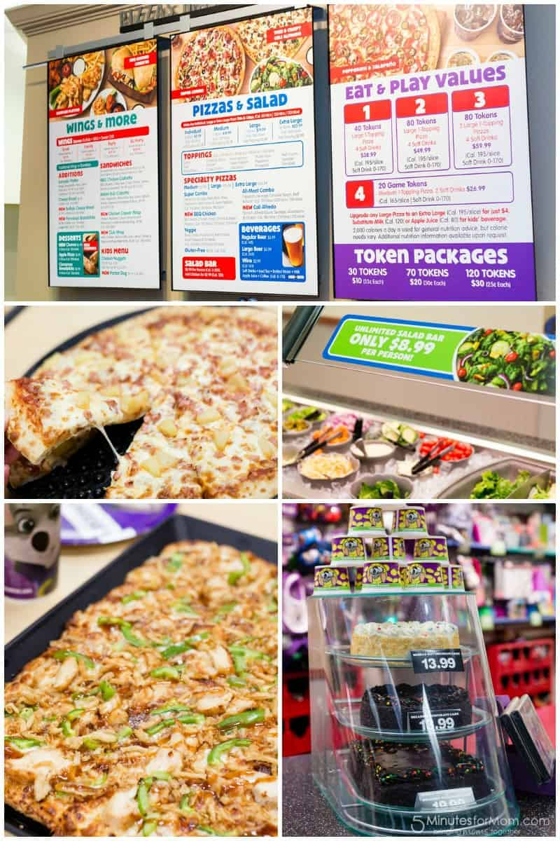Chuck E Cheese Pizza and Salads