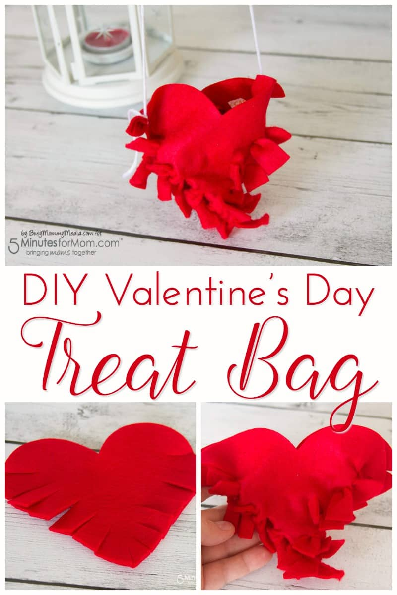 DIY Valentines Day Treat Bag #ValentinesDay #diyvalentines