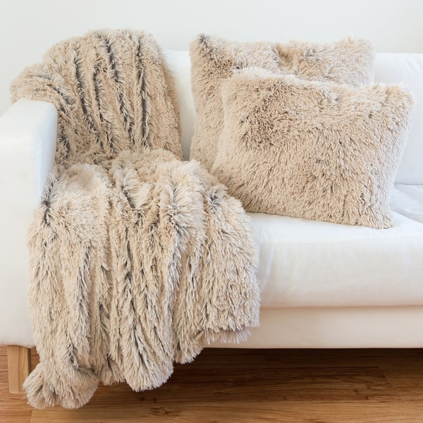 Faux Fur Pillow Or Throw Blanket Options