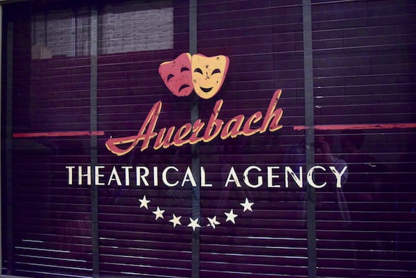 Marvels Agent Carter Set Visit - Auerbach Theatrical Agency Window