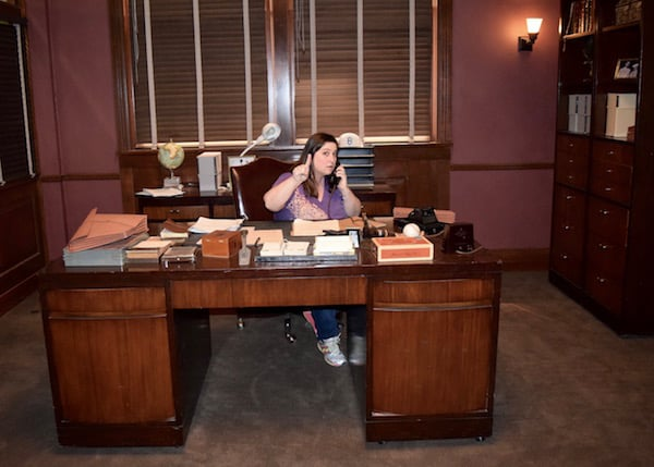 Marvels Agent Carter Set Visit - Dawn Cullo at Desk