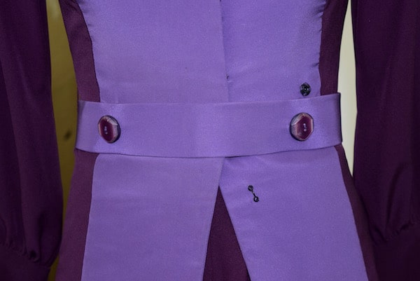Marvels Agent Carter - Wardrobe - Ladies Fashion - Purple Pantsuit Detail
