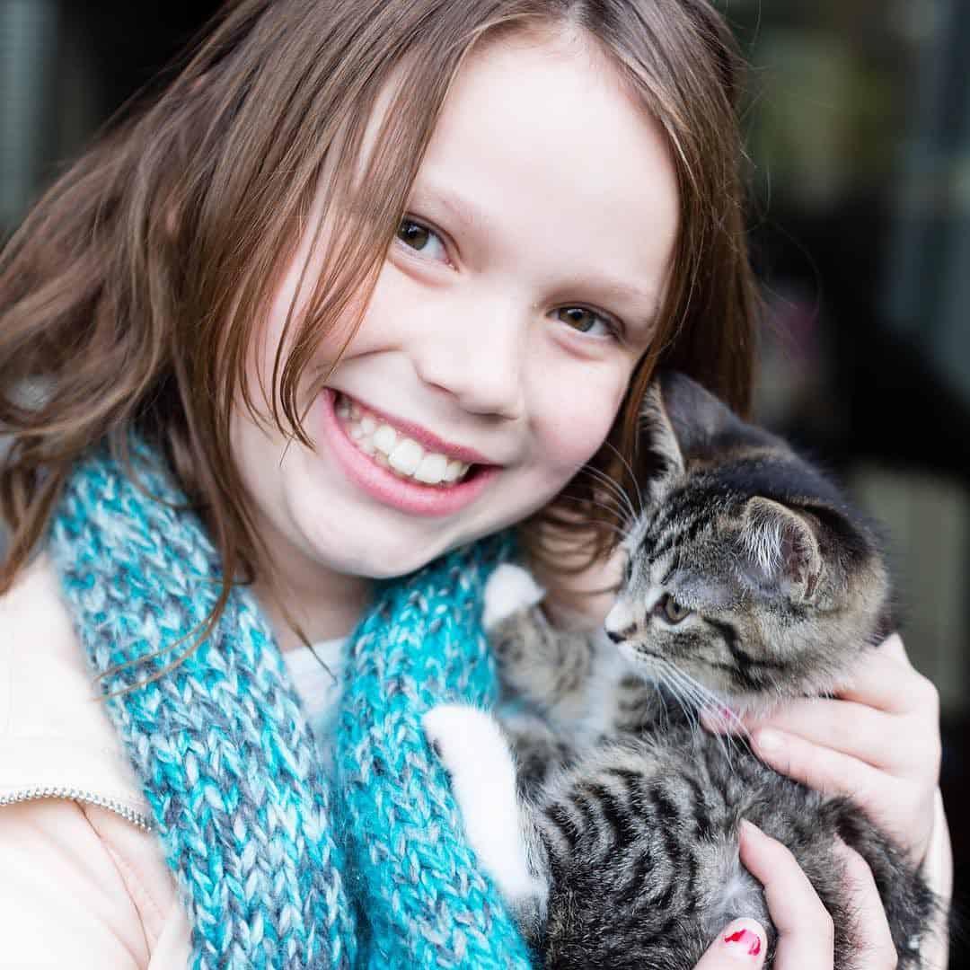 Olivia with Alice the Kitten